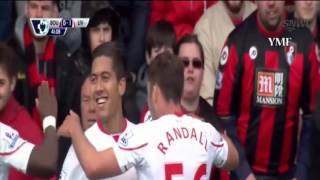 AFC Bournemouth vs Liverpool 1-2 (17-4-2016) All Goals Highlights 2016