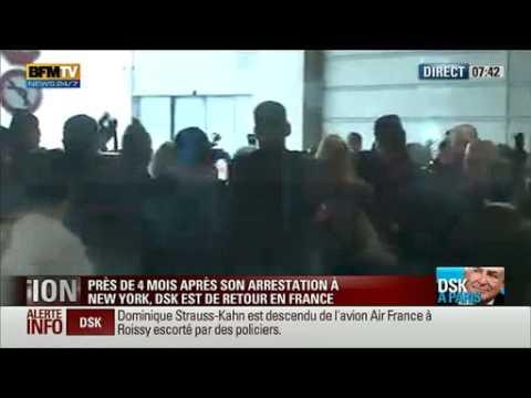 Dominique Strauss-Kahn de retour en France