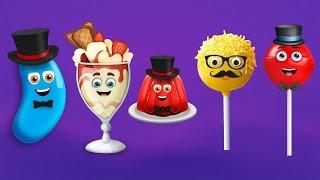 Jelly Bean, Ice Cream, Jelly, Cake Pop and Lollipop Finger Family Songs