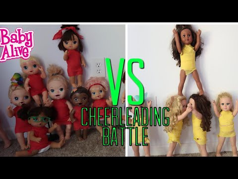 BABY ALIVE Cheerleading Battle Team VS Team baby alive videos