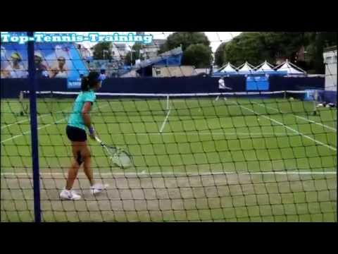 Na Li Training 2013 HD (Court Level View)
