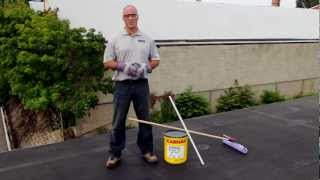 How to apply 502 RC-W Elastomeric White Roof Coating over EPDM -- KARNAK