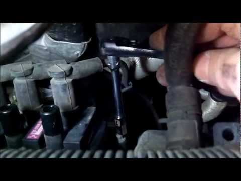 How to tune up Ford Freestar 2004 fuel filter spark plugs part 1of2