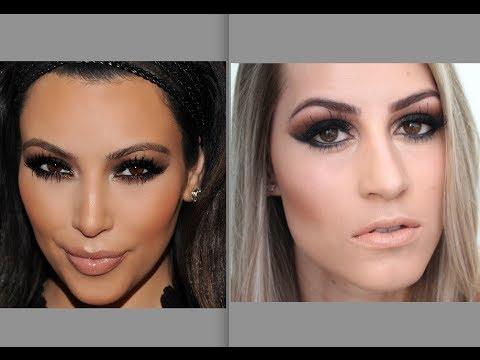 Maquiagem Kim Kardashian - Pele e Olhos Por Bárbara Thais