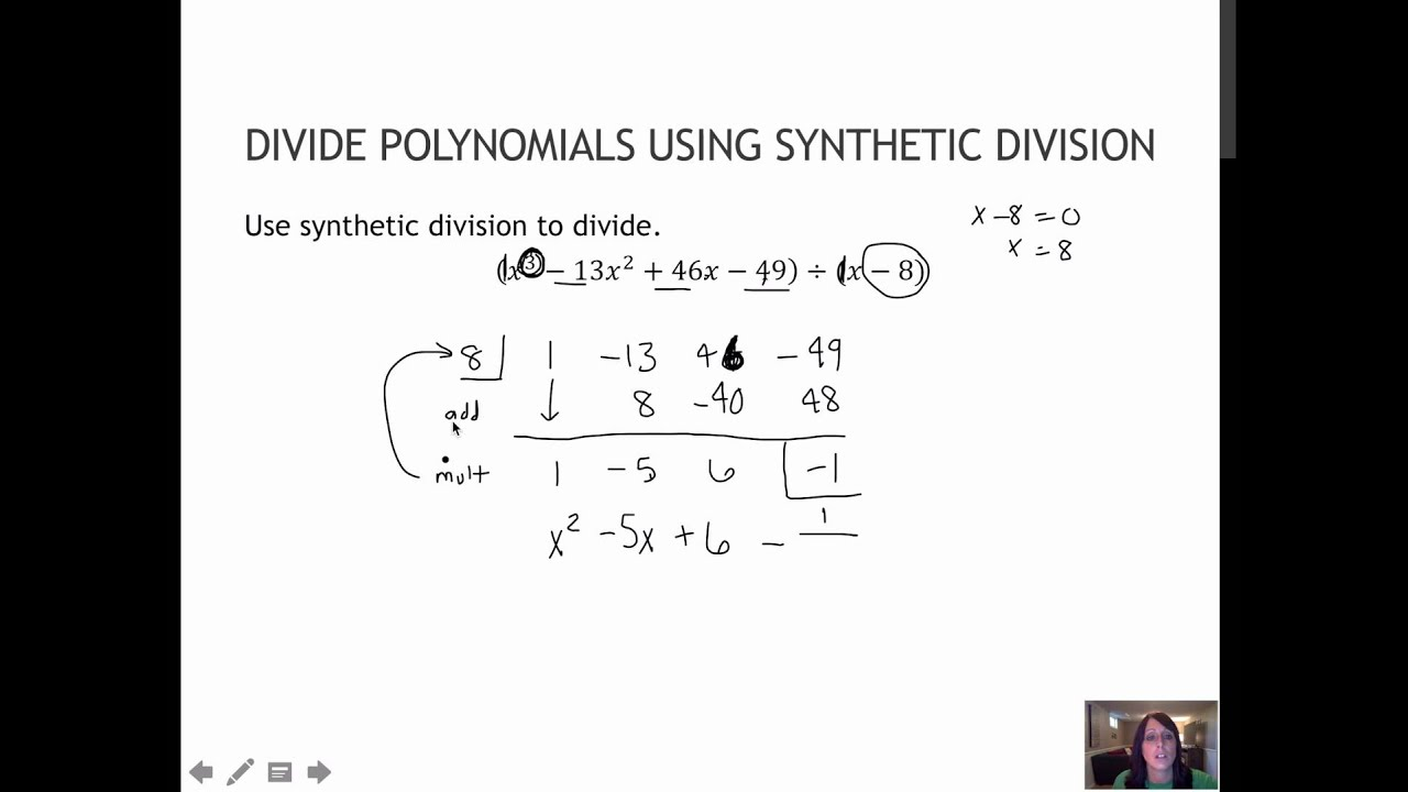 How to Divide Polynomials Using Synthetic Division