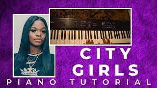 How To Play JT First Day Out City Girls - EASY PIANO TUTORIAL
