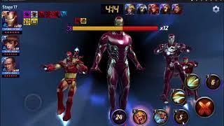 Marvel Future Fight T3 Iron Man WBU Cull Obsidian Stage 17