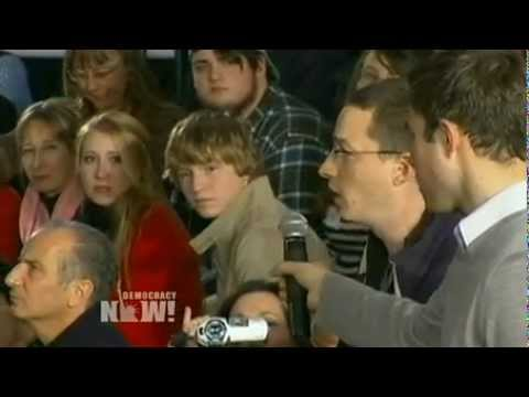 Occupy New Hampshire Protester Takes Romney to Task for Declaring 