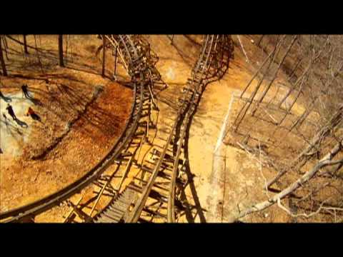 Outlaw Run roller coaster POV in Branson, Mo.