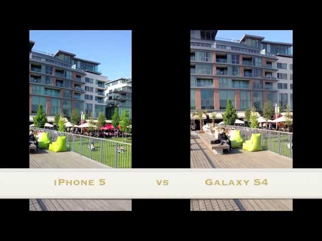 iPhone 5 vs. Samsung Galaxy S4 camera test