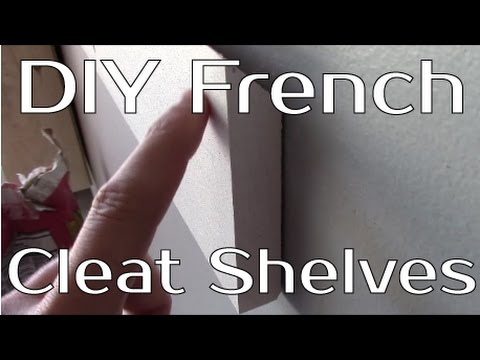 DIY French Cleat Shelves For Your Garage