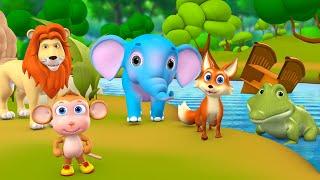 Animals Contest - Who will be Useful? 3D Hindi Story जानवरों की प्रतियोगिता कहानी Kids Moral Stories