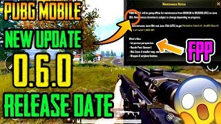 PUBG MOBILE 0.6.0 UPDATE🔥 Release Date with FULL details😱 || MUST WATCH