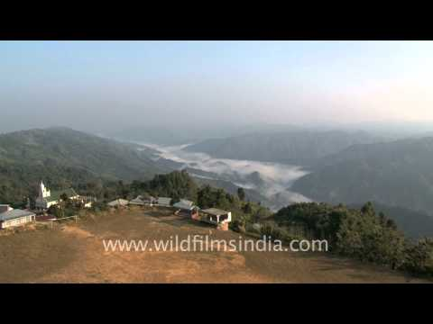 Mist Covered Hills Of Mizoram video