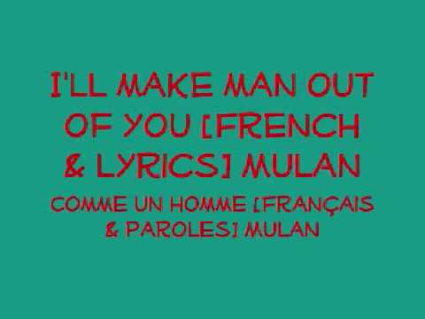 Make a man out of you lyrics