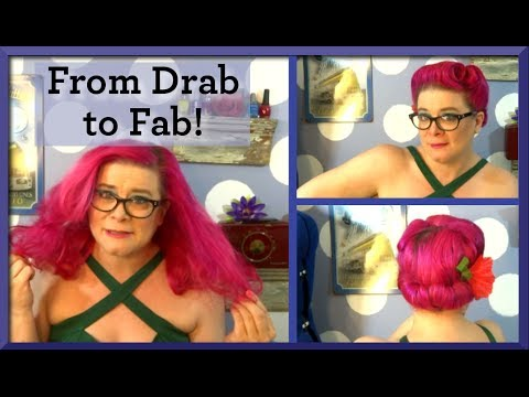 Victory Rolls & a Gibson Roll ~A Classic Vintage Updo