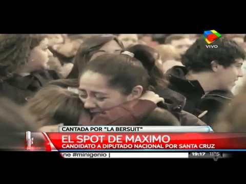 Máximo Kirchner presentó su spot de campaña