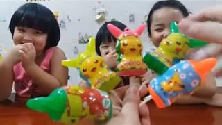 Learn Colors Pokemon Pikachu eggs and Finger Family Song Gia Linh Chơi Học Màu Sắc Pokemon Pikachu e