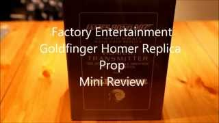 Factory Entertainment ,James Bond 007, Goldfinger Tracking Devices,Prop Replica,Review.