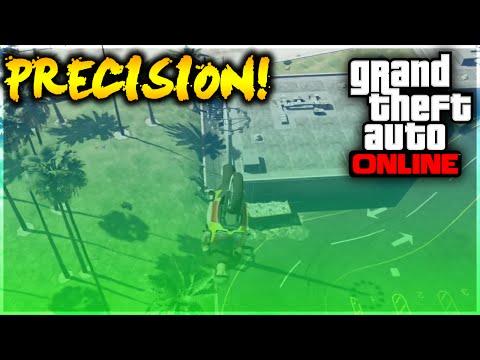 GTA 5 Stunts - WTF! Super Motorcycle Airport Precision Stunt (GTA 5 Stunt Challenge)