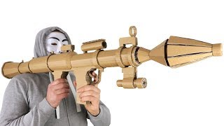 How To Make Cardboard RPG Rocket Launcher
