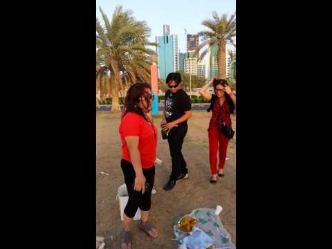Sea Side Dancers In Kuwait..adik Girls.. video