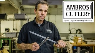 How To Sharpen A Knife by Knife Sharpening Expert Robert Ambrosi