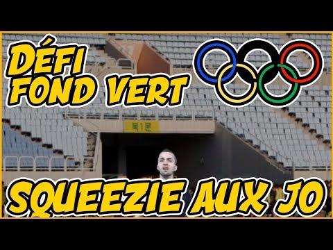 """Défi fond vert - """"Squeezie aux Jeux Olympiques"""" [Bonus]"""