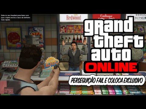 GTA V online PC - fazendo missões e assalto fail zoando news exclusivo