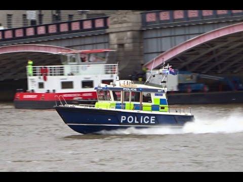 London Metropolitan Police Boat Responding