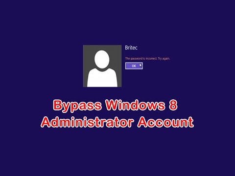 Gain Access to Windows 8 Administrator Account