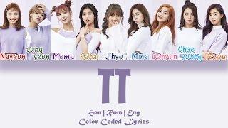 Twice 트와이스 Tt Han Rom Eng Color Coded