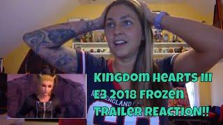 Kingdom Hearts III (KH 3) Official E3 2018 Frozen Trailer REACTION!!