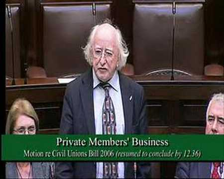 Civil Unions Bill - Michael D. Higgins