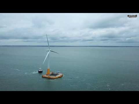 Départ Eolienne flottante Floatgen avril 2018
