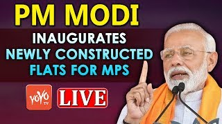 PM Modi LIVE | Modi Inaugurates Newly Constructed Flats For MPand#39;s | New Delhi  LIVE