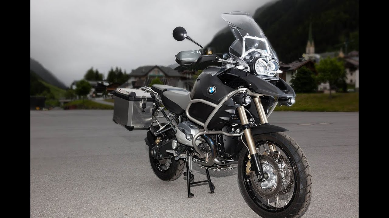 bmw r 1200 gs adventure test in den alpen youtube
