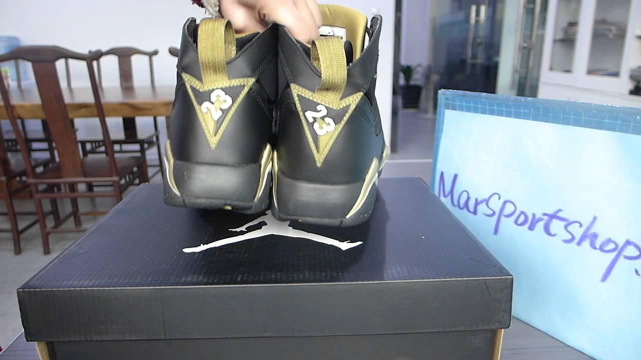 Retro Jordans 7 Gold Super Max Air Jordan 7 Gold
