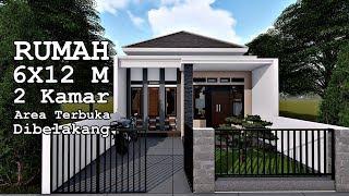 RUMAH 6X12 M 1 LANTAI DENGAN AREA TERBUKA DIBELAKANG