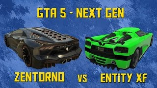 GTA 5 - Zentorno vs Entity (Lamborghini Sesto Elemento vs Koenigsegg Agera) [HD] First Person!