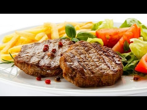 Healthy Recipe - Cooked Vegetables and Organic Meat