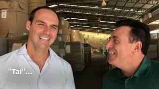 Eduardo Bolsonaro visita indústria em Jaú / SP