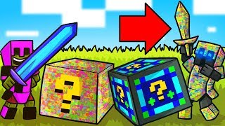 Minecraft: GLITCH VS NIGHT LUCKY BLOCK CHALLENGE! - Modded Mini-Game