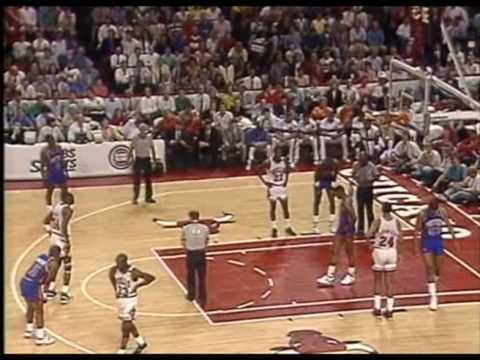 MICHAEL JORDAN: 32 pts vs Detroit Pistons (1989 Playoffs-Game 6)