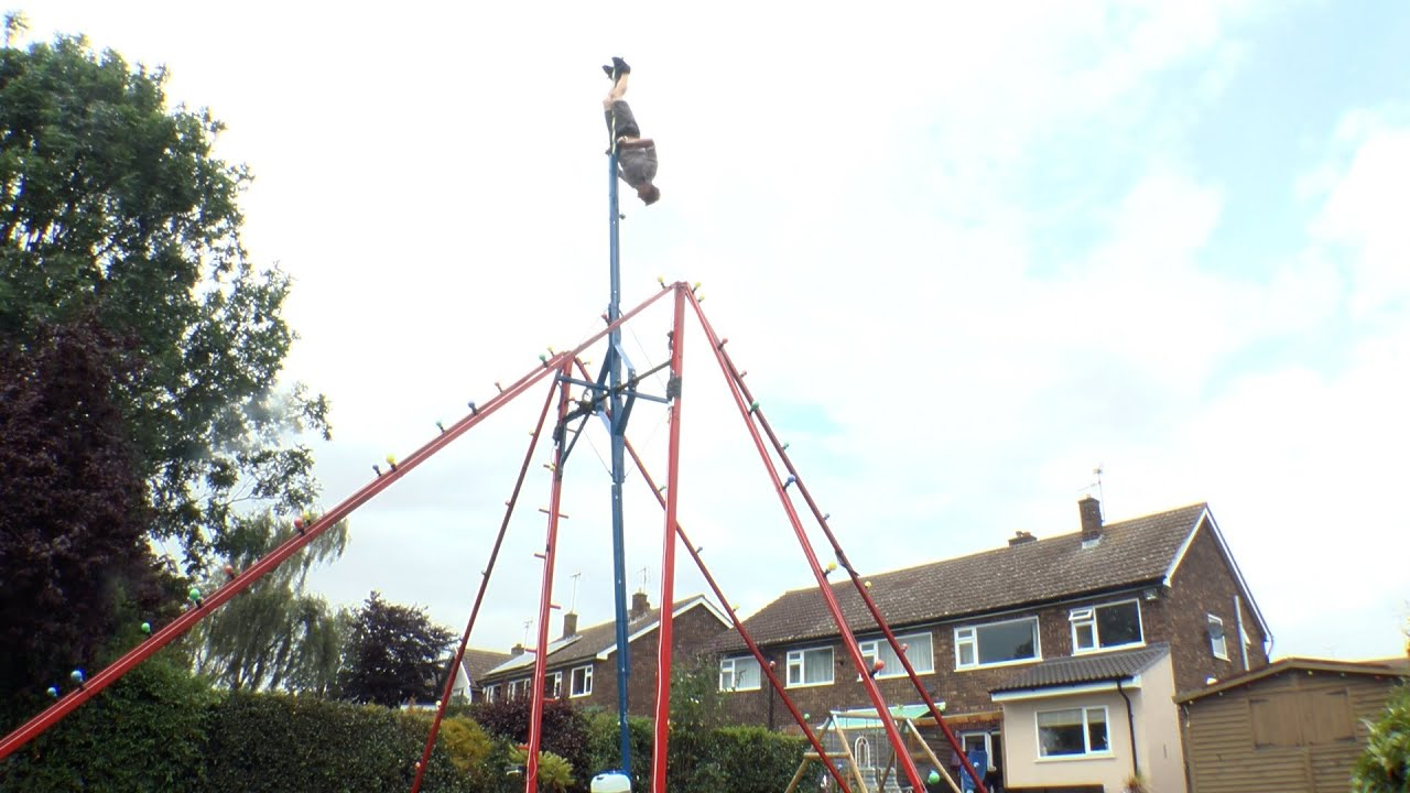 This Guy Built A Badass 30-Foot Swing In His Backyard