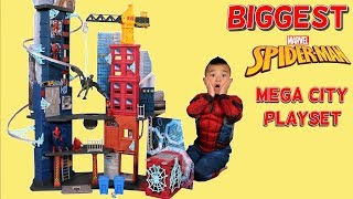 BIGGEST Spider-Man Playset Ever!! The Mega City Playset Unboxing With Ckn Toys