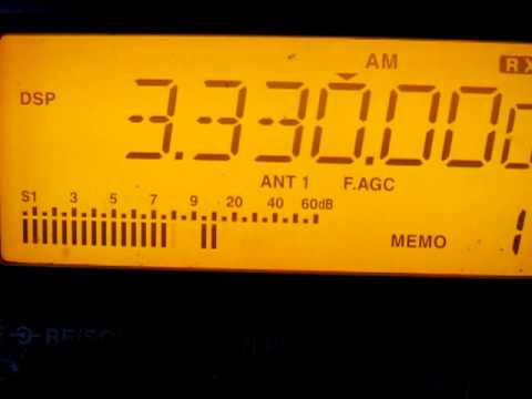 CHU  Radio,  3330 KHz  Official Canadian government time signals