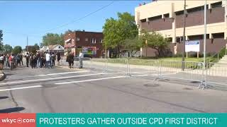 WATCH | Protest taking place outside Cleveland Police Department