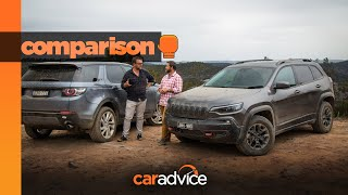 COMPARED! Land Rover Discovery Sport v Jeep Cherokee Trailhawk