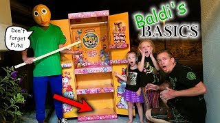 Baldi's Basics in the Dark!!! Pikmi Pops Toy Scavenger Hunt! He Found Our Pikmi Pop Box!